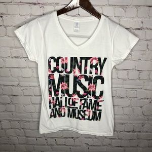 Country Music Hall Of Fame Floral T-shirt S